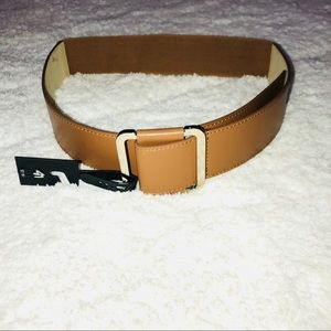 Lane Bryant Camel Belt with Big Silver Buckle